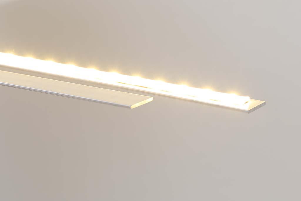 Aluminium-Flachprofile zur Kühlung von LED Streifen bzw. Flexbändern