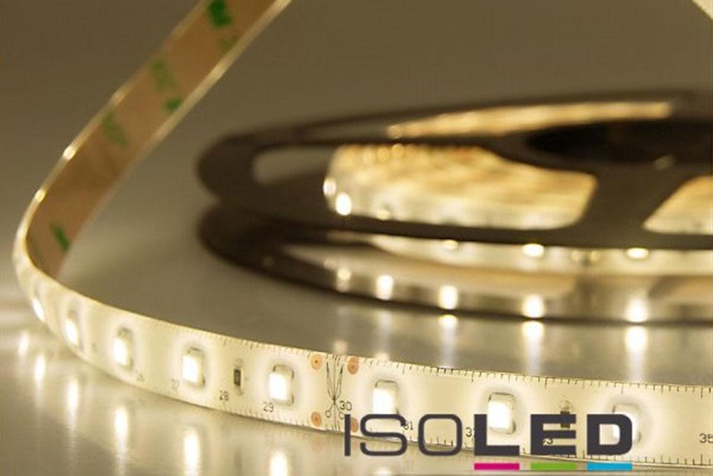 LED Streifen / Flexband mit warm-weißer Lichtfarbe von 3.000 Kelvin