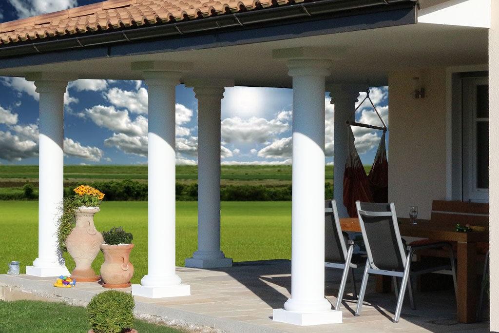 Fassadengestaltung mit Säulenverkleidungen