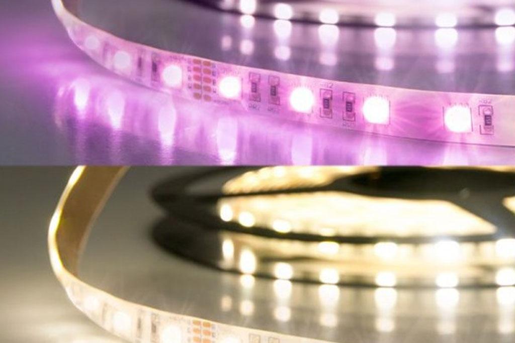 RGB-WW LED Band für farbige und warm-weiße Lichtfarben