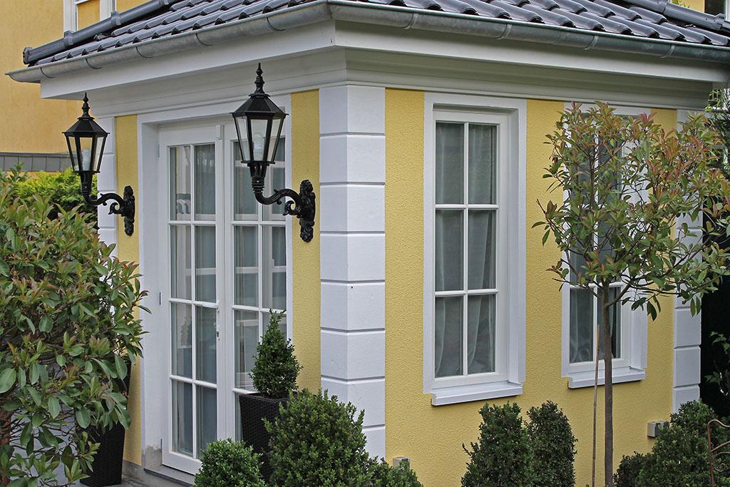 Bossensteine für modern gestaltete Ecken einer Fassade