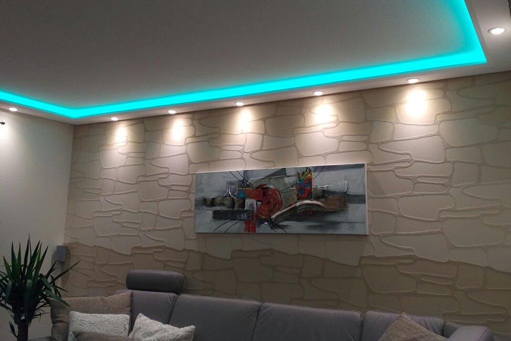 Moderne Stuckleiste WDML-200B-PR für die indirekte Beleuchtung in Wohnzimmer